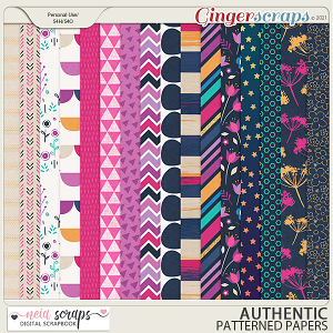 Authentic - Patterned Papers - by Neia Scraps