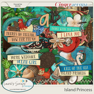 Island Princess Page Kit