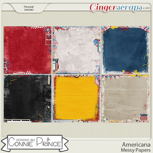 Americana  - Messy Papers by Connie Prince