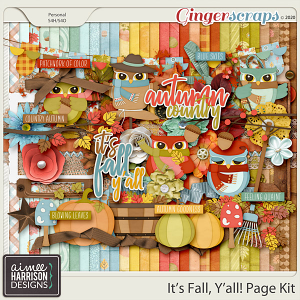 It's Fall Y'all Page Kit by Aimee Harrison