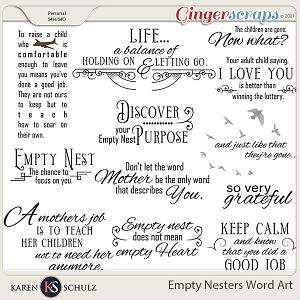Empty Nesters Word Art by Karen Schulz