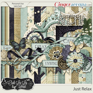 Just Relax Digital Scrapbook Kit