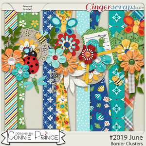#2019 June - Border Clusters by Connie Prince
