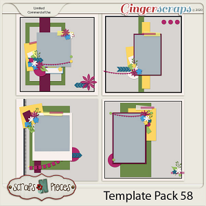 Template Pack 58 by Scraps N Pieces