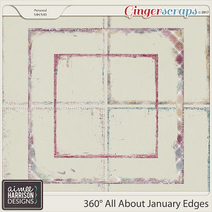 360° All About January Messy Edges by Aimee Harrison