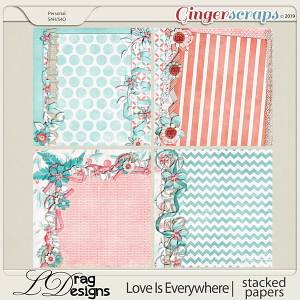 Love Is Everywhere:Stacked Papers by LDragDesigns