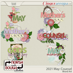 2021 May: Counsel Wordart by North Meets South Studios