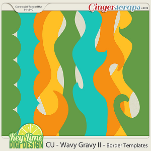 CU Wavy Gravy Borders II by Key Lime Digi Design