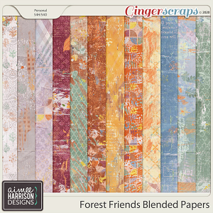Forest Friends Blended Papers by Aimee Harrison
