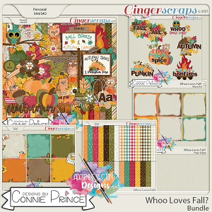 Whoo Loves Fall?  - Bundle by Connie Prince & Adrienne Skelton