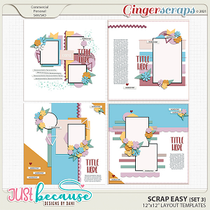 Scrap Easy 3 Templates by JB Studio