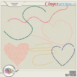 XOXO - Text Path - by Neia Scraps