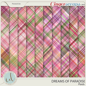 Dreams Of Paradise Plaids by Ilonka's Designs