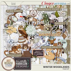 Winter Woodlands Page Kit by JB Studio & Aimee Harrison Designs