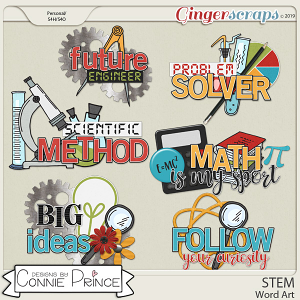 STEM - Word Art Pack by Connie Prince
