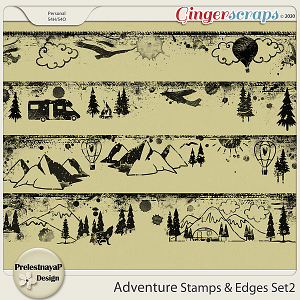 Adventure Stamps & Edges Set2