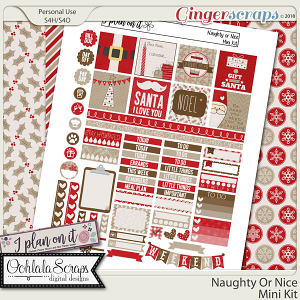 Naughty Or Nice Planner Stickers Mini Kit