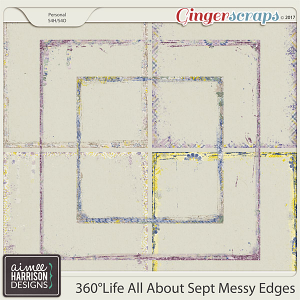 360°Life All About September Messy Edges by Aimee Harrison