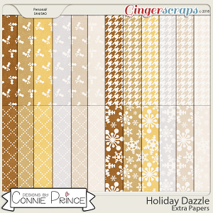 Holiday Dazzle - Extra Papers by Connie Prince