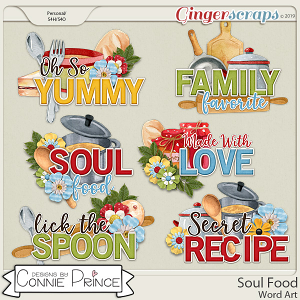 Soul Food - Word Art Pack by Connie Prince