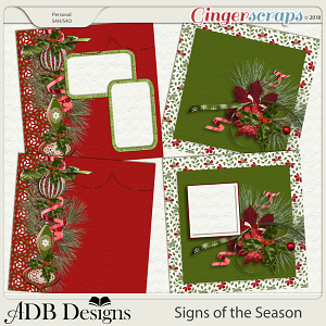 Signs of the Season Quick Pages & Stackers by ADB Designs