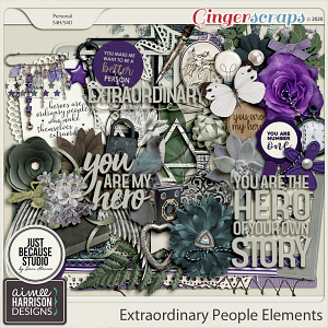 Extraordinary People Elements Pack by Aimee Harrison and JB Studio