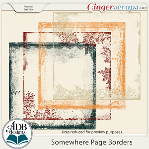 Somewhere Page Borders by ADB Designs