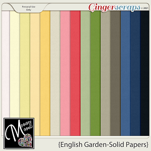 English Garden-Solid Papers by Memory Mosaic