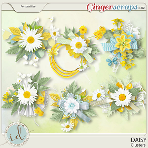 Daisy Clusters by Ilonka's Designs