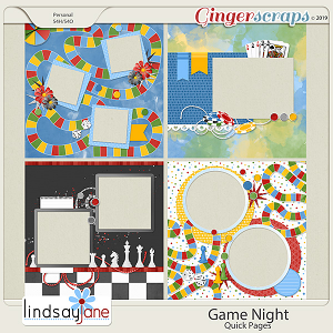 Game Night Quick Pages by Lindsay Jane