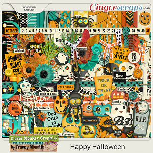 Happy Halloween by Clever Monkey Graphics