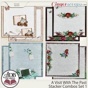 A Visit With The Past Stacker Combo Set 1 by ADB Designs