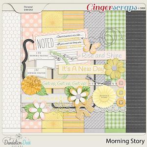Morning Story Digital Scrapbook Kit by Dandelion Dust Designs