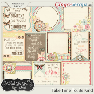 Take Time To Be Kind Journal and Pocket Scrapbooking Cards