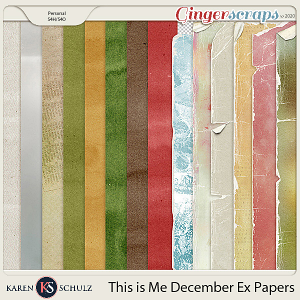 This is Me December Bonus Papers by Snickerdoodle Designs