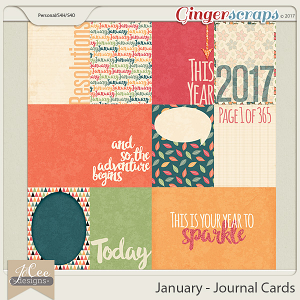 January Journal Cards