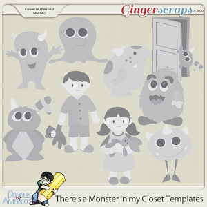 Doodles By Americo: There's a Monster In My Closet Templates
