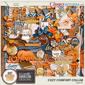 Cozy Comfort Page Kit by JB Studio and Aimee Harrison Designs