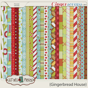 Gingerbread House papers by Scraps N Pieces