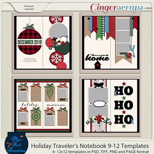 Holiday Travelers Notebook 9-12 Templates by Miss Fish