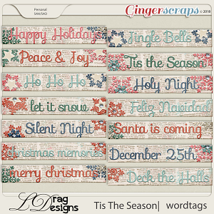 Tis The Season: Wordtags by LDragDesigns