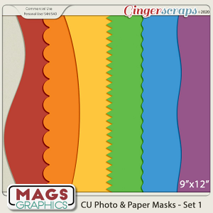 CU Photo & Paper PNG Masks Set 1 by MagsGraphics