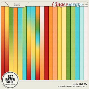 366 Days Ombre Papers and Cardstocks by JB Studio