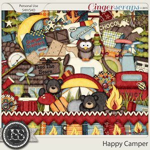 Happy Camper Digital Scrapbook Kit