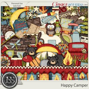 Happy Camper Digital Scrapbook Kit