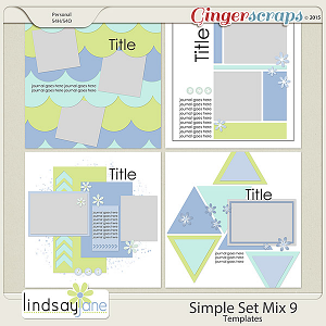 Simple Set Mix 9 Templates by Lindsay Jane
