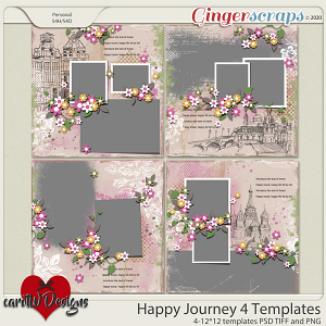 Happy Journey 4 Templates by CarolW Designs
