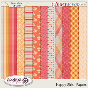 Happy Girls - Papers by Aprilisa Designs