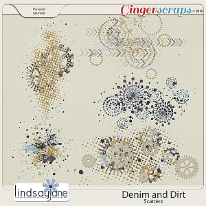 Denim and Dirt Scatterz by Lindsay Jane