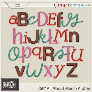 360° All About March Alpha Sets by Aimee Harrison